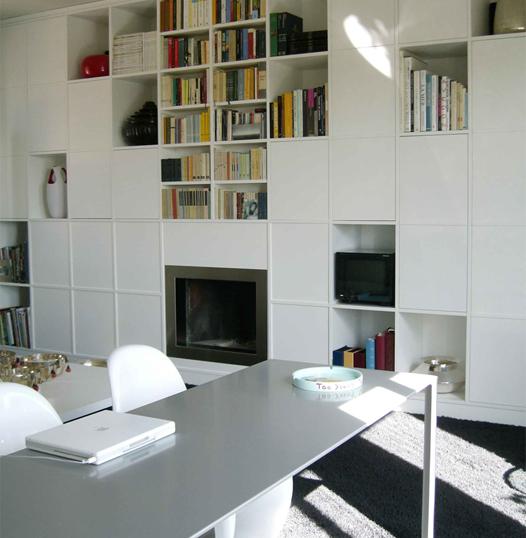 arredamento interni libreria design